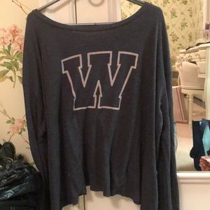 "Tops - Wildfox ""W"" long sleeve shirt"